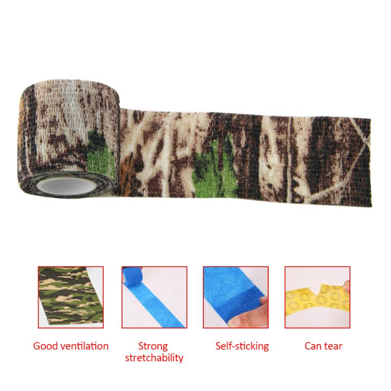 10CM X 4.5M Camouflage Camo Elastoplast Adhesive Bandage Wrap Stretch Self Adherent Tape For Wrist Ankle Slices Sports Safety
