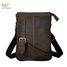 Модная качественная мужская повседневная многофункциональная сумка мессенджер из натуральной кожи, сумка на плечо для планшета, поясная сумка для мужчин 611 6 d