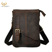 Fashion Quality Real Leather Male Casual Multifunction messenger Satchel Tablet Shoulder bag Fanny Waist Belt Pack Men 611 6 d