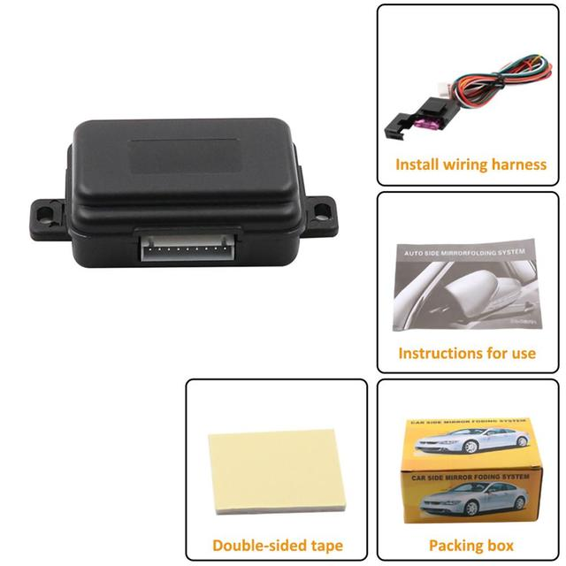 Car Rearview Mirror Folding System Rear View Auto Side Mirrors Folding Kit Modules Car Intelligent Rear View Mirror Accessories