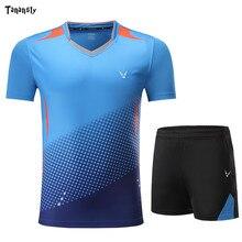 Высокое качество рубашки теннисные трикотажные наборы для настольного тенниса для мужчин и женщин Одежда для пинг понга для бадминтона Спо...