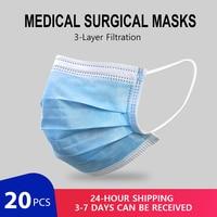 Profesjonalna medyczna maska chirurgiczna 95% Meltblown filtr tkaninowy ochronna maska oddechowa dla lekarzy poważnie zainfekowany obszar