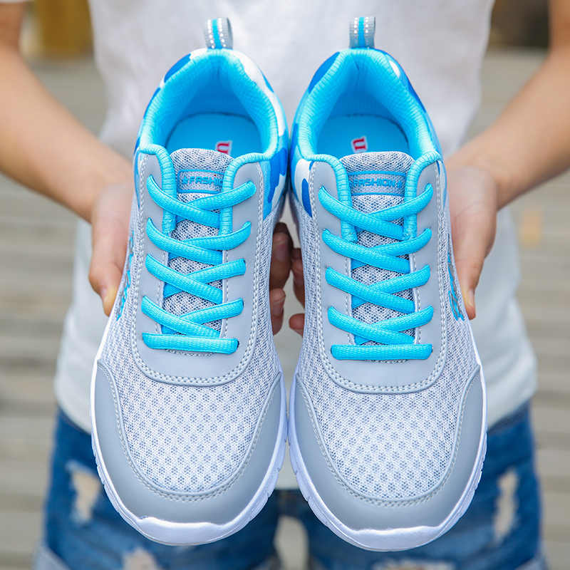 ผู้หญิงใหม่Breathable Casualรองเท้าผู้หญิงฤดูใบไม้ผลิตาข่ายรองเท้าผ้าใบสตรีตะกร้าFemmeแสงรองเท้าผู้หญิงหญิงTenis Zapatos Mujer
