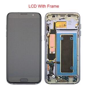 Image 4 - Zwarte Goud Super Amoled 5.5 Vervanging Voor Samsung Galaxy S7 Rand G935 G935F Lcd Display Digitizer Vergadering Met Frame