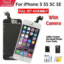 Grade AAA Display For iPhone 5 5S 5C SE LCD Touch Screen Assembly Digitizer Replacement Full Set Clone Module Camera+Home Button