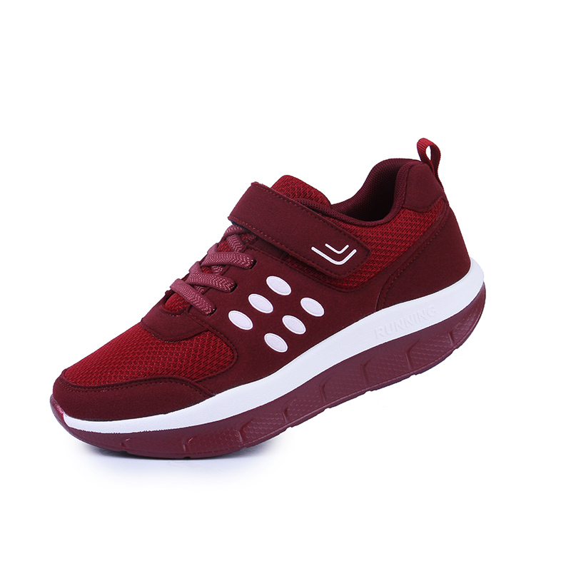 Women Breathable Toning Shoes Platform Wedge Fitness Slimming Sneakers Laides Thick Bottom Swing Sneakers Jogging Footwear