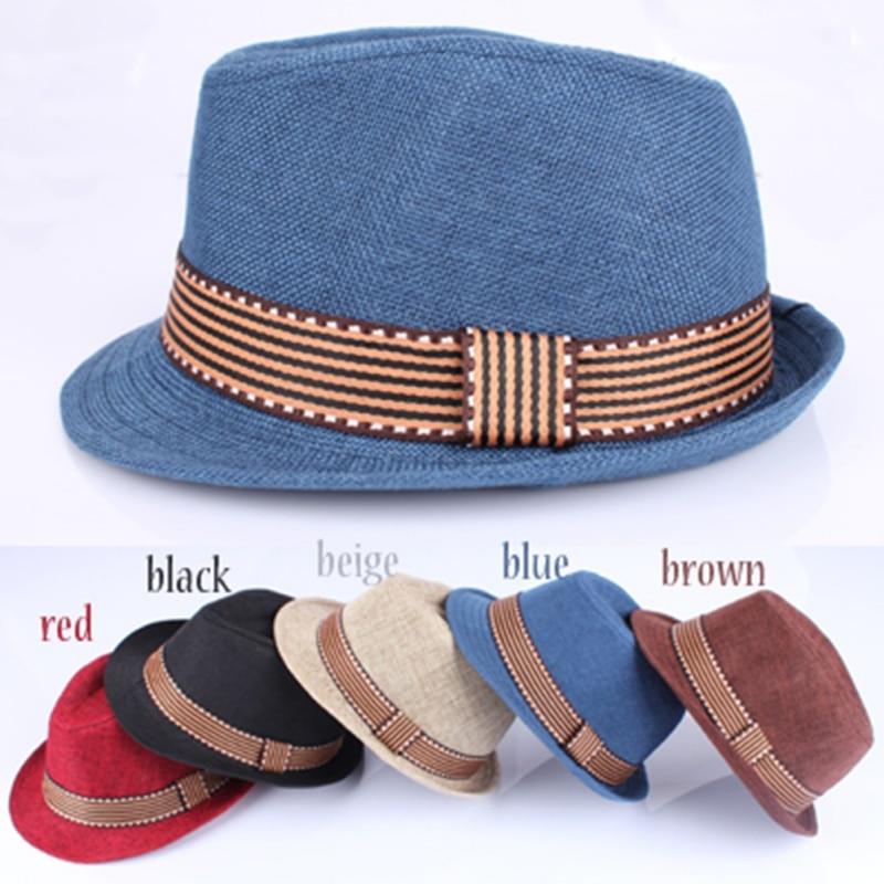 Gorro para bebés y niños gorra de paja de Jazz para bebés, niños y niñas, sombrero gorro bebé, gorra de sol para niños estilo americano y europeo 2-6T