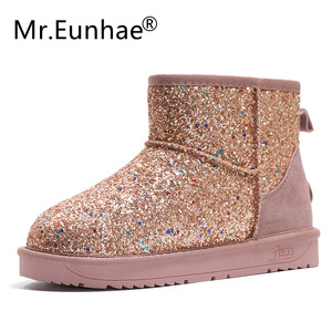 Image 5 - Bling Sequined ผู้หญิงนักเรียนฤดูหนาวรองเท้าบู๊ตหิมะรองเท้า UGS รองเท้าออสเตรเลีย Anti ลื่นยาง