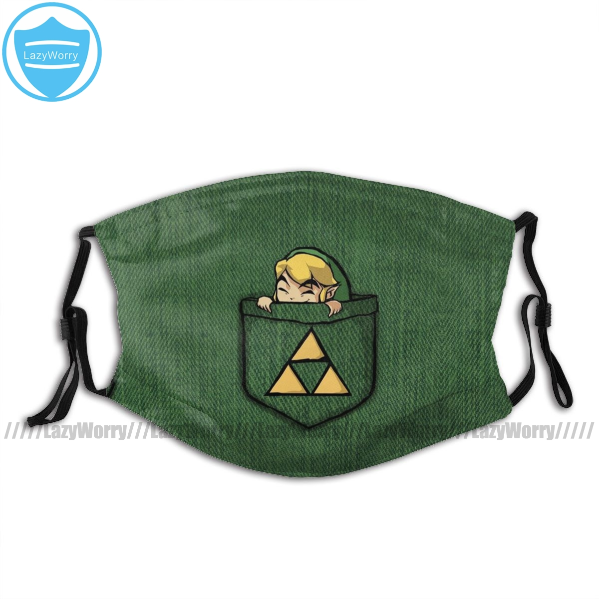Legend Of Zelda Mouth Face Mask Legend Of Zelda Pocket Link Facial Mask Funny Kawai With 2 Filters For Adult