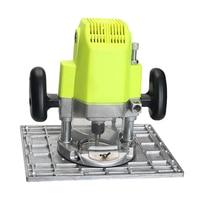 المهنية مطاحن خشب التشذيب آلة الوجه لوحة دليل الجدول الألومنيوم راوتر الجدول إدراج لوحة ل النجارة طاولة عمل-في ملحقات أدوات الطاقة من أدوات على