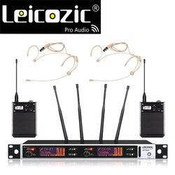 Leicozic profesjonalny mikrofon bezprzewodowy rofone true diversity stage bezprzewodowy system mikrofonowy mikrofon bezprzewodowy zestaw słuchawkowy mikrofon uhf mic