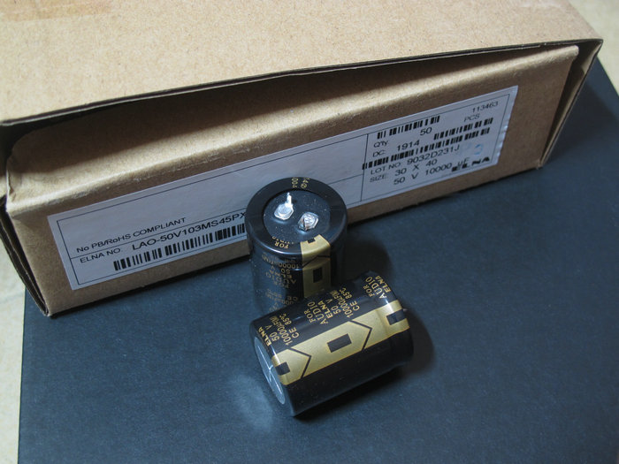 2 unids/lote Original Elna LAO para la serie de AUDIO estéreo de filtrado fever hi-fi-end condensadores electrolíticos envío gratis