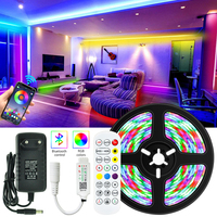 LED Streifen Lichter Bluetooth RGB 5050 Flexible Band TV Computer Hintergrund Schlafzimmer Beleuchtung DC 12V APP Smart Assistent Control