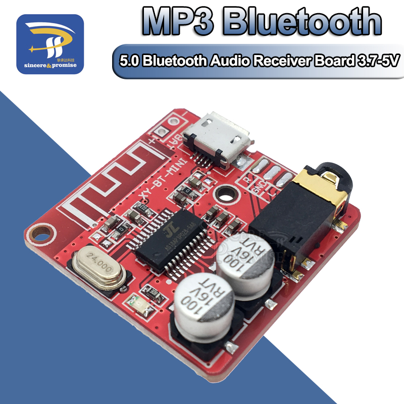 DIY Bluetooth Audio Receiver board Bluetooth 4.0 4.1 4.2 5.0 MP3 Lossless Decoder Board Wireless Stereo Music Module 3.7-5V(China)