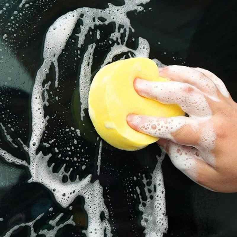 1/5 個の自動車ケアポリッシュスポンジクリーニングツールワックススポンジ車体ガラス洗浄スポンジワッシャーアプリケーターパッドワックス車のワックスフォーム
