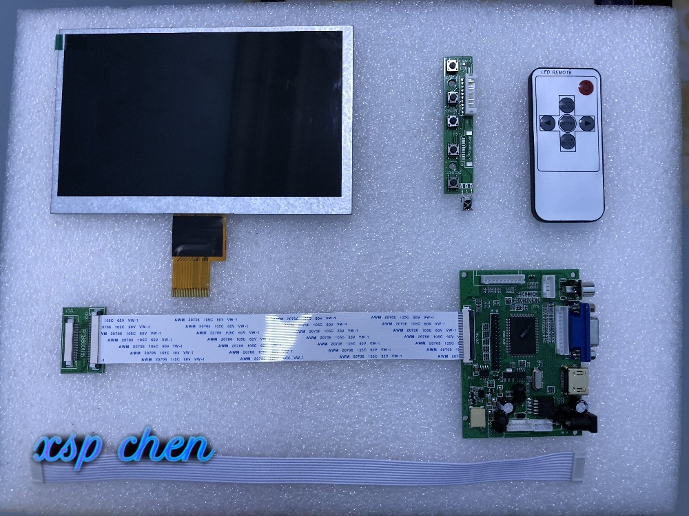 """High Resolution LCD kit for Raspberry Pi ARM Audio board 7/"""" LCD 1024x600 Display"""