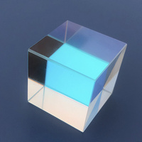 Cross Dichroic Cube Color Prism Combiner Splitter Optical Prisms Glass K9 Light Experiment Tool Gift 6Sided Bright Light