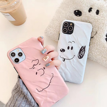 Cute cartoon simple Charlie Brown Dog phone case For iphone 11 pro max X XR XS MAX for iphone 7 8 plus soft silicone line cover
