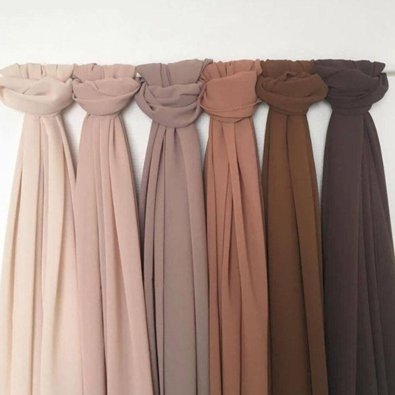 good stitching stitch plain high quality premium heavy Chiffon hijab scarf Malaysian Women s scarves hijabs