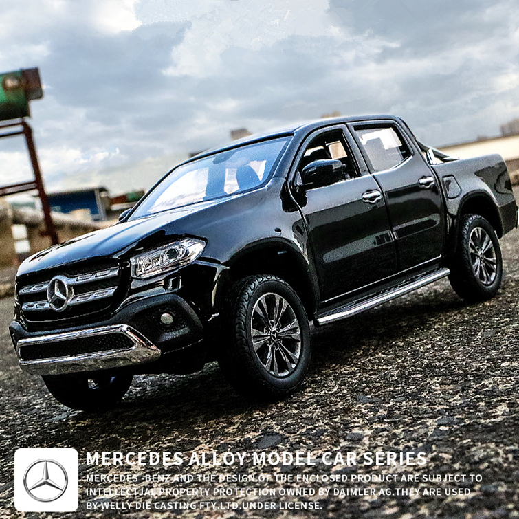 Welly 1:24 Mercedes X Pickup Truck Alloy Car Model Diecasts & Toy Vehicles Collect Gifts Non-remote Control Type Transport Toy