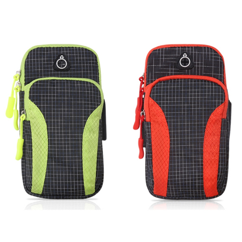 Sport Armband Case Holder Zippered Fitness Running Arm Band Bag Pouch Adjustable Jogging Workout Phone Cover Smart Phone Bag