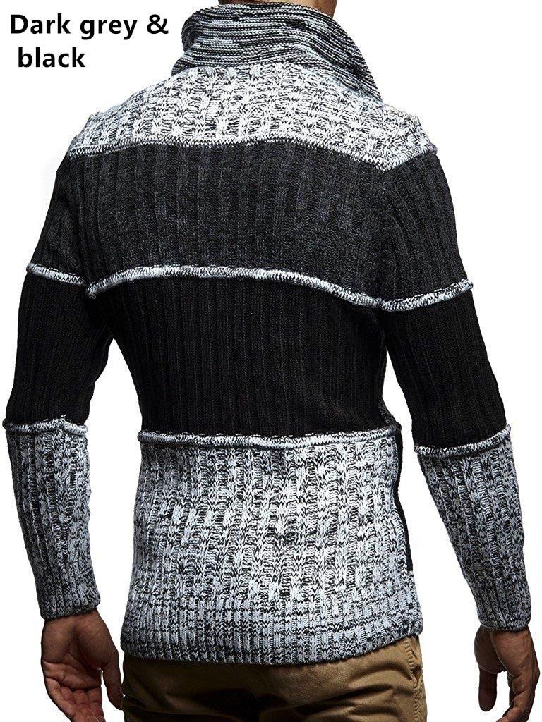 ZOGAA 2019, однотонный вязаный мужской свитер в клетку, одежда, мужской Рождественский свитер, одежда 2019, зимний мужской пуловер и свитер для мужчин, пальто - 6
