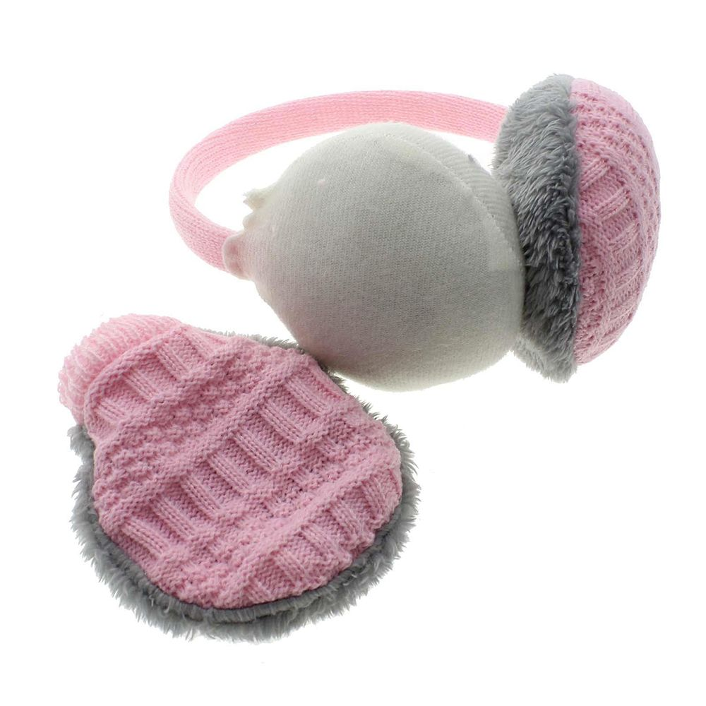 1pc Fashion Removable Winter Earmuffs Women's Warm Unisex Ear Cover Knitted Plush Earwarmers Easy Cleaning Earwarmers Hot Sale