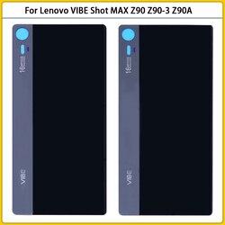 Новый задний корпус Z90 для Lenovo VIBE Shot MAX Z90 Z90a40 Z90-7 Z90-3 z90A, Крышка батарейного отсека, задняя крышка, стеклянный клей