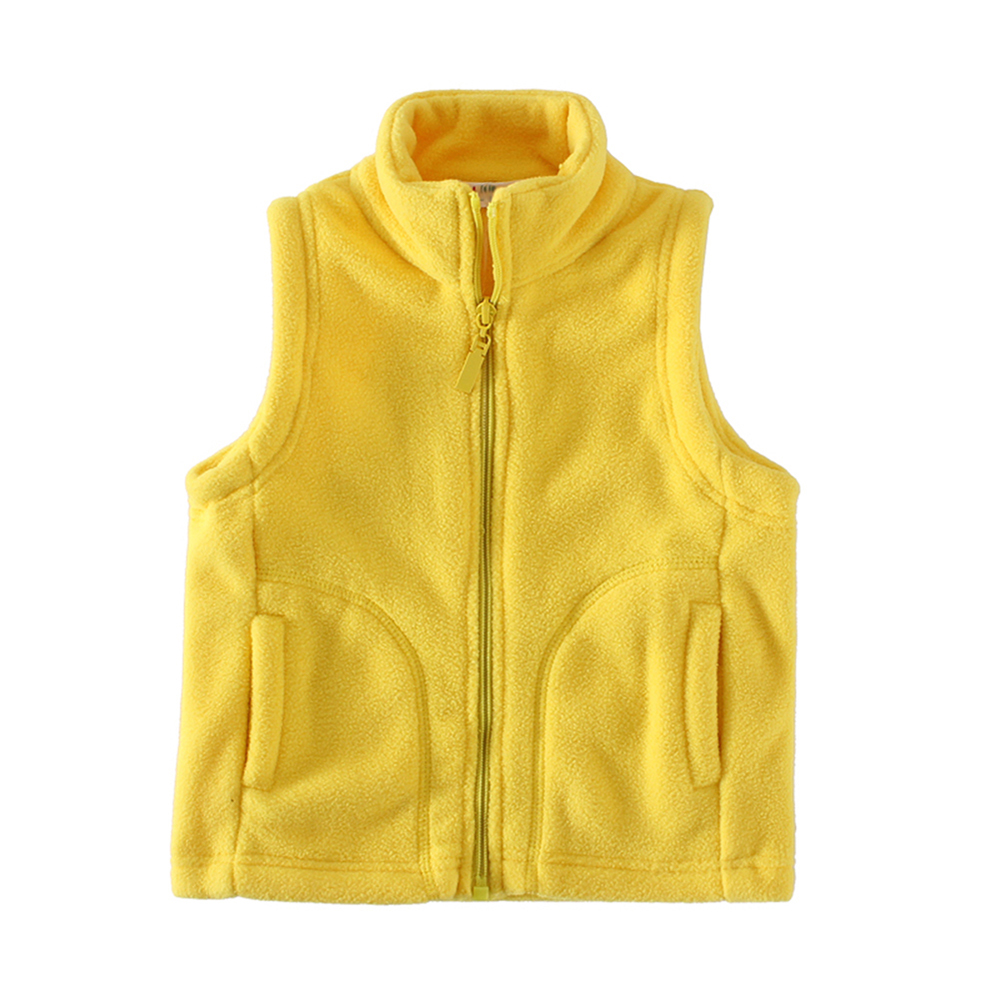 Mudkingdom Cute Boys Girls Fleece Vest Lightweight Full Zipper Kids Sleeveless Jacket 3