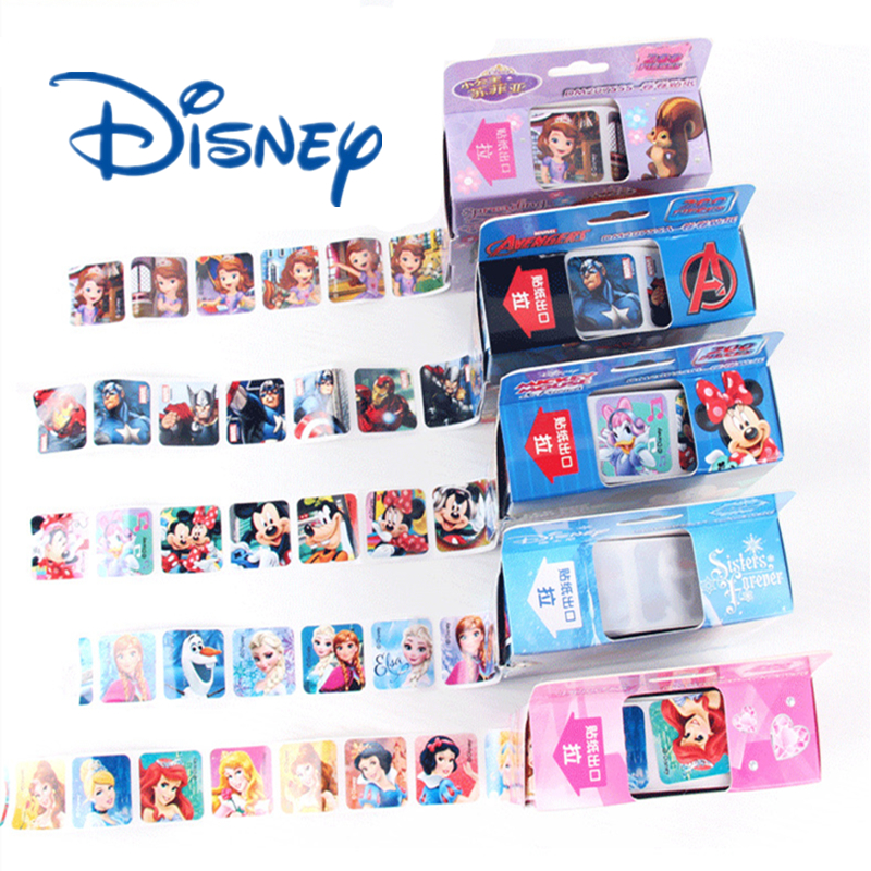 200PCS/1 Box Disney Mickey Frozen Snow White Sophie Marvel Sticker Suitcase Bicycle Computer Skateboard Child Gift