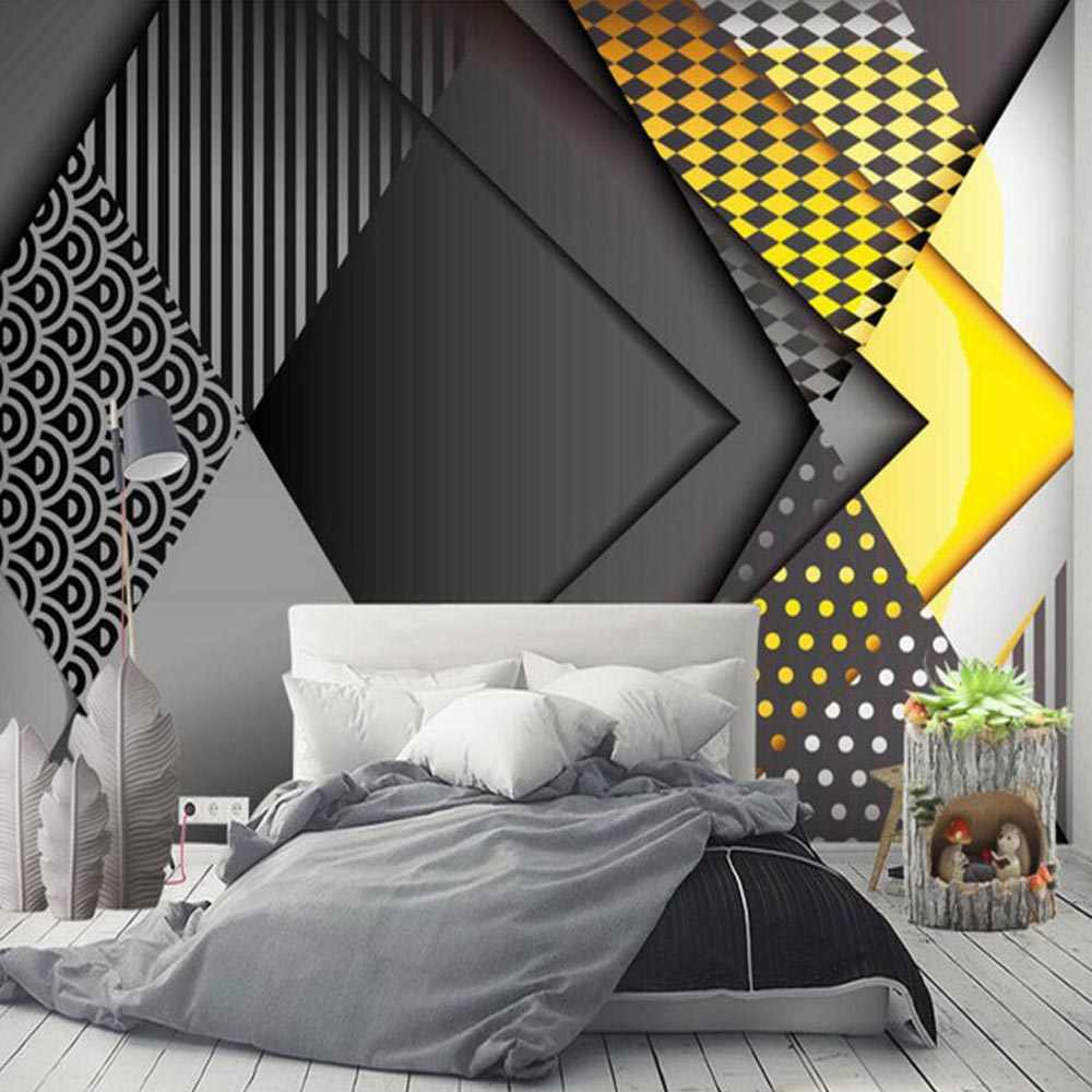 3D Murais Abstratos Desenhos Geométricos Impresso Foto Grande Mural Papel de Parede Sala Quarto Decoração Home Da Parede Papel de Parede Da Novidade