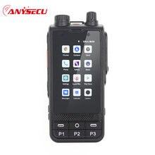 ANYSECU 4G Netzwerk Radio W6 Android 8,1 Entsperren LTE/WCDMA/GSM POC Radio 4200mAh Walkie Talkie arbeit mit Echt PTT Zello