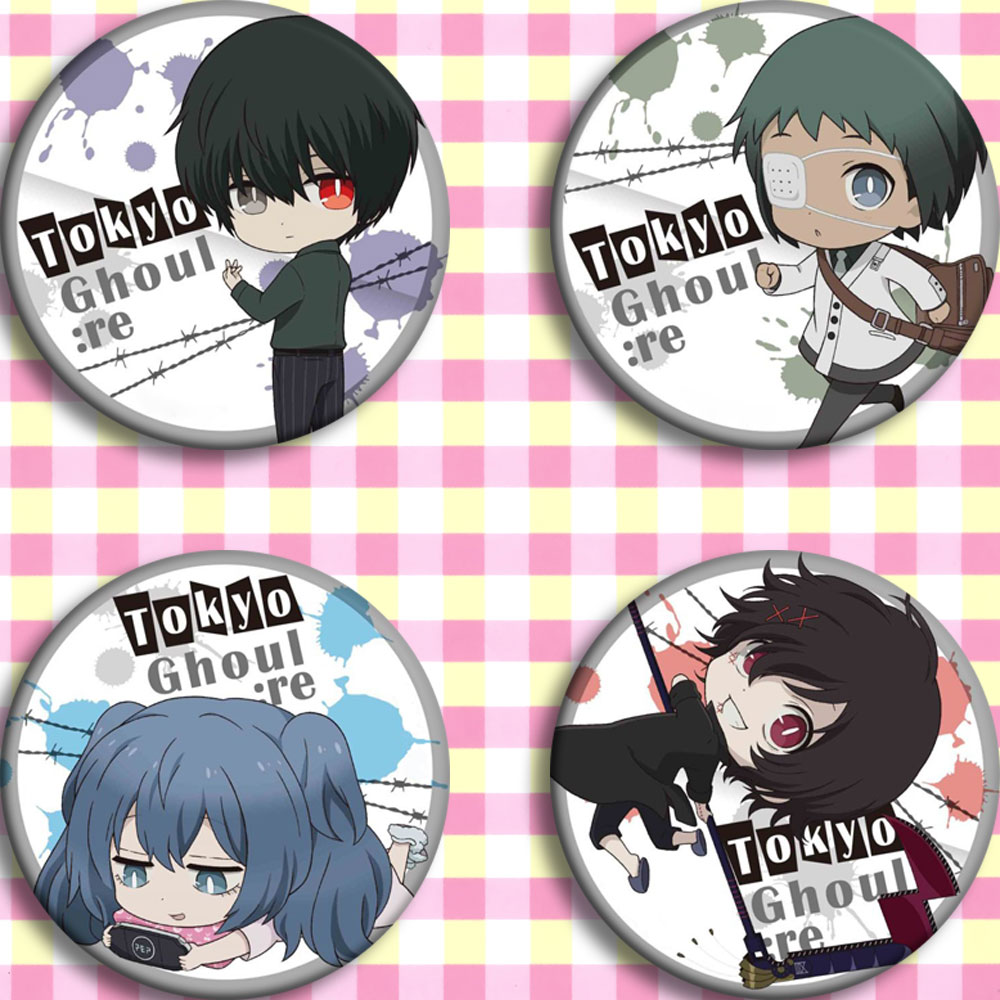 Japan Anime Tokyo Ghoul :RE Cosplay Badge Cartoon Collection Backpacks Badges Bags Button Brooch Pins Gift