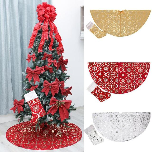 Tree Skirts Creative Christmas Decoration New Year Home Outdoor Decor Event Party Tree Skirts For New Year Carpet Decorations 1