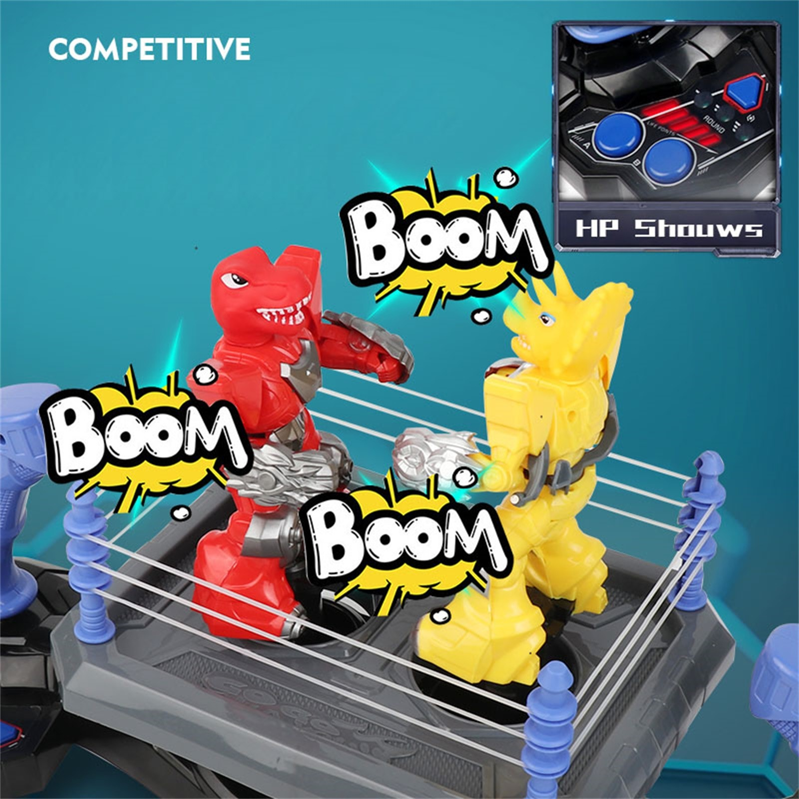 2PC Novel Robot Realistic Game Animal Dinosaur Model RC Boxing Robot Double Fight Childrens Kids Adults Party Leisure Toys Gifts