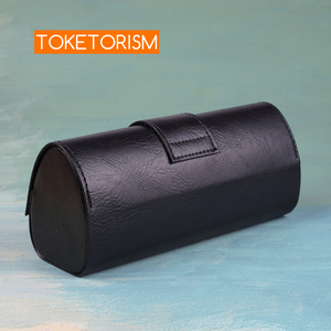 Image 5 - Toketorism vintage handmade glasses box sunglasses bags stylish artificial leather boxes