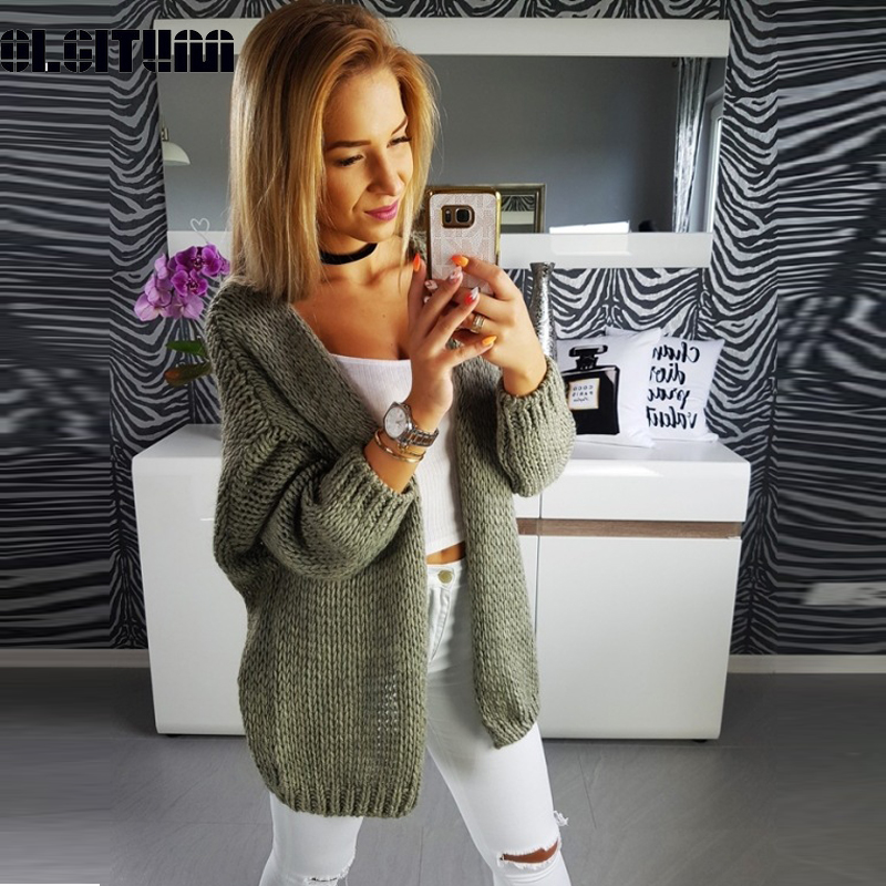 New 2020 Sweater Women Autumn Knitted Coat Sweater Solid Cardigan Tops Sweater  Cardigan Knitted Coat Casual Long Sleeve SW1450