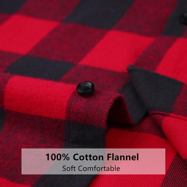 100% Cotton Flannel Plaid Slim Fit Brand Casual Soft Comfortable 4XL 2