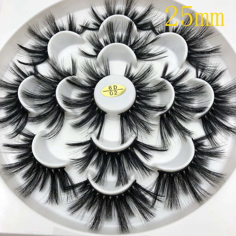 Buzzme 25mm 3/7 Pairs Eyelash Lashes Faux Mink Eyelashes Reusable Natural Eyelashes Popular False Lashes Makeup