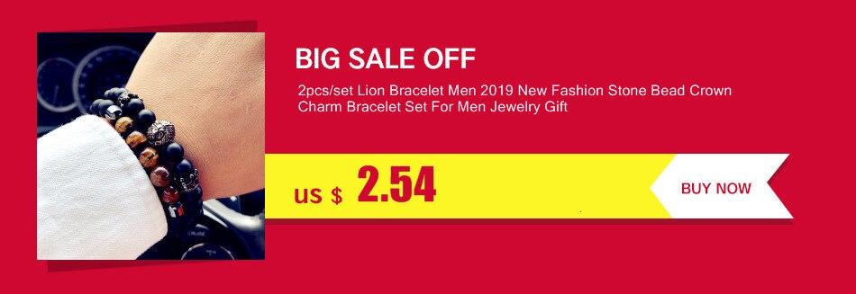 2019 New Luxury Wristband Men Bracelet Irregular Beads Braided Macrame Adjustable Charm Bracelet For Men Jewelry Pulsera Hombres