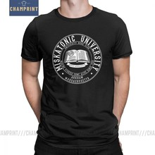 Pria Call Of Cthulhu Universitas Miskatonic Klub Buku T-shirt Lovecraft Baru O Neck Lengan Pendek Katun Murni Tees T kemeja(China)