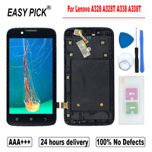 For Lenovo A328 A328T A338 A338T LCD Display Touch Screen Digitizer Assembly Replacement With Frame With Tools