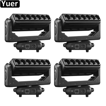4Pcs/Lot 7X40W RGBW 4IN1 LED Pixel Bar Moving Head Light Beam Wash Zoom 3IN1 DMX512 DJ Disco Light Party Wedding Stage Lighting 4pcs 18 leds par light rgbw 4in1 led parcan dmx512 stage lighting 8ch led wash light for dj wedding