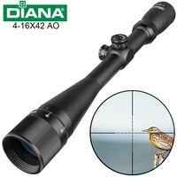 Tactical 4 16X42 AO Riflescope Mil Dot Reticle Optical Sight Hunting Optics Rifle Scope Air Gun