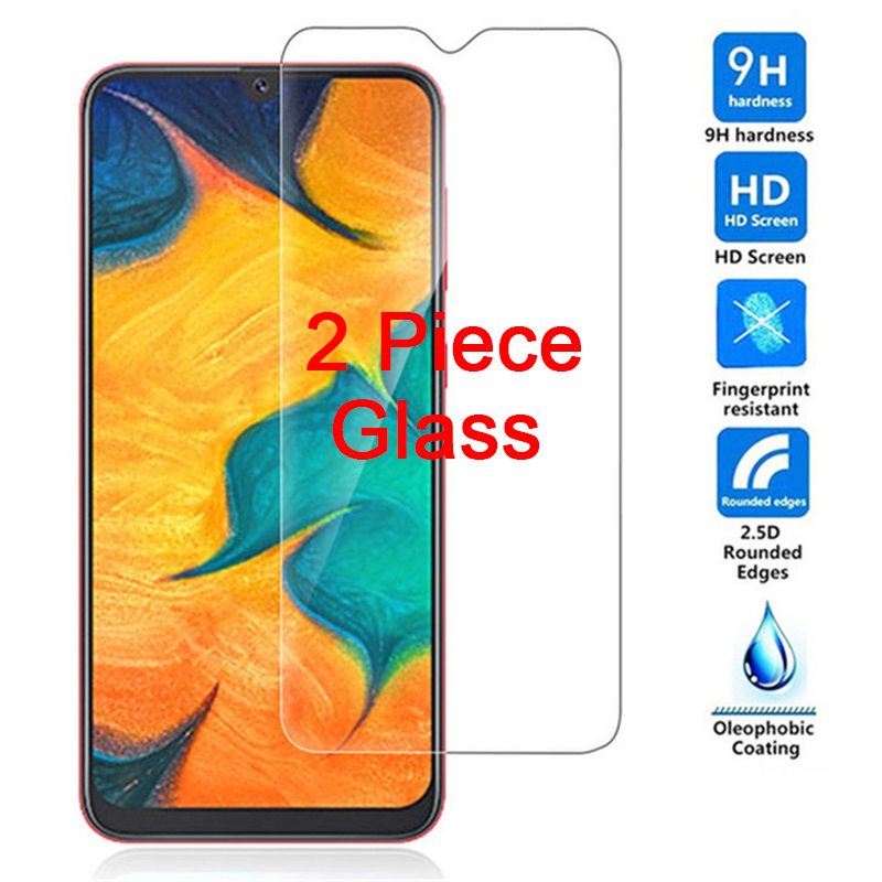 2 Piece Screen Protector For Samsung A50 A30 A10 M10 M20 Tempered Glass 9H Phone Film For Galaxy A70 A40 A20 M30 C5 C7 C8 C9 Pro