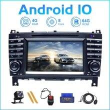 ZLTOOPAI Auto Radio Android 10 Für Mercedes Benz W203 W209 W219 EINE A160 C Klasse C180 C200 CLK200 Auto Multimedia player GPS SWC