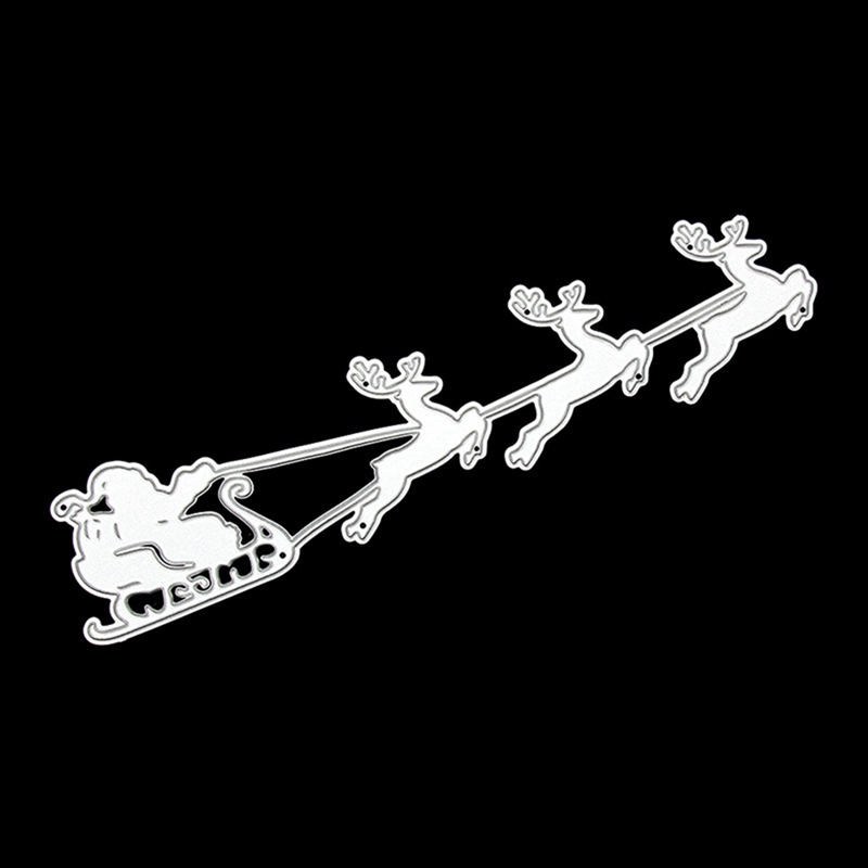 Christmas Reindeer Sled Sleigh Metal Cutting Dies Punch For Stamp Scrapbooking