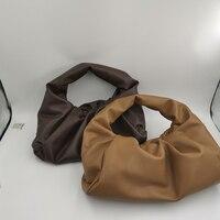 Cloud Bag Women Handbag Soft Genuine Leather Women Shoulder Bag Croissant Shape Cow Leather Tote Bag High Quality Famous Designe
