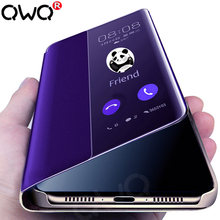 Intelligent wake Phone case For huawei mate 20 p30 p20 lite pro luxury Flip Cover For huawie p smart 2019 2018 shockproof Cases(China)