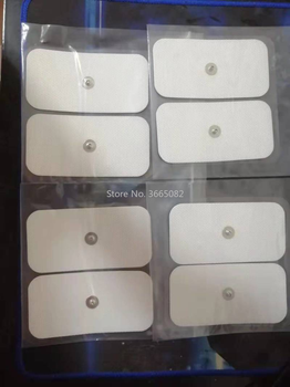 10 sztuk 5x10cm wymiana prostokątne duże elektrody pad dla Tens EMS Compex stymulator elektryczny podwójne elektrody Snap tanie i dobre opinie mussels CN (pochodzenie) Non-woven fabric